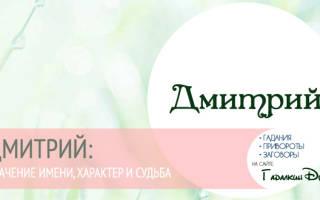 Имя для мальчика дмитрий. Что означает имя Дмитрий: характеристика, совместимость, характер и судьба