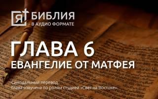 Глава 6 от матфея. Библия онлайн — все о библии