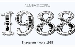 1988 сколько лет сейчас. Число Подарок Судьбы