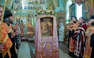 Встреча марии и елизаветы икона. Икона Благовещения и игуменский посох Божией Матери, находящиеся в монастыре в праздник Целования