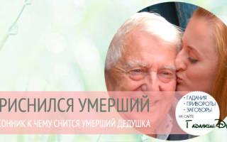 Приснился покойный дедушка обнимал меня. К чему снится умерший дедушка