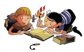 9 загадок на тему огонь и освещение.