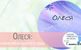 Олеся русское имя или. Значение и характеристика имени Олеся: происхождение и судьба