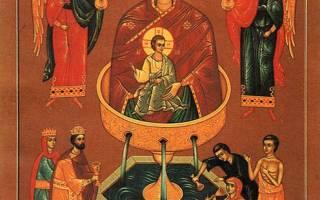 Икона живоносный источник. «Живоносный Источник» чудотворная икона Божией Матери — Святыни России