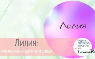 Что означает имя лилия на татарском языке. Происхождение и характер имени лилия