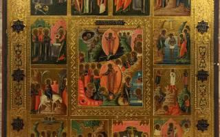 Православный календарь 20. Двунадесятые непереходящие праздники
