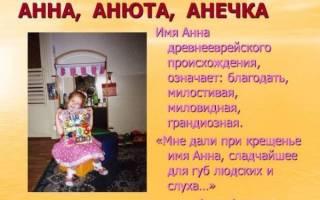 Тайна и значение имени анна. Что означает имя Анна для девочки: происхождение и значение женского имени Аня