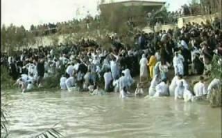 Когда иордан течет вспять. Река иордан крещение